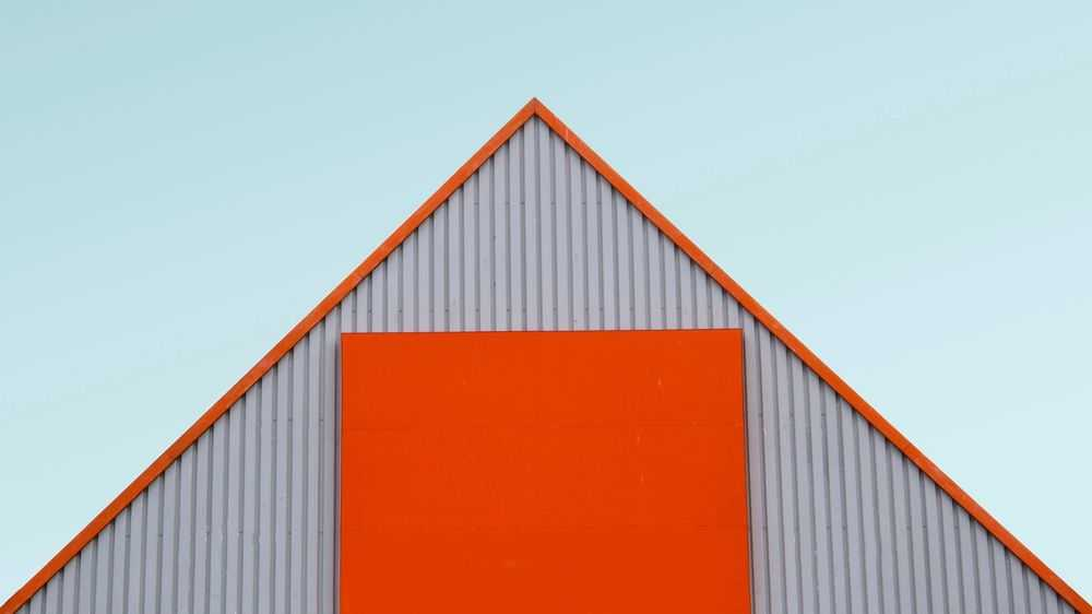 Orange roof and sky